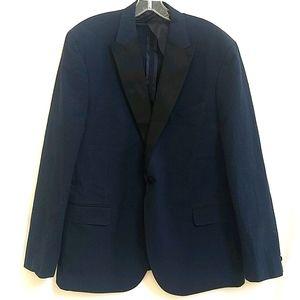 Haspel Blue Black Seersucker Tuxedo Jacket 44R